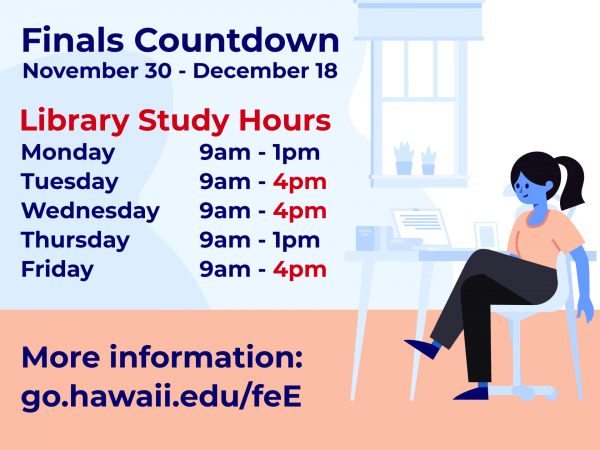 Fall 2020 Finals Countdown - Library Hours